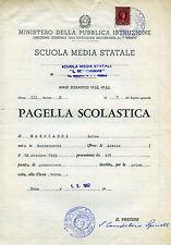 """ROMA: ANNO SCOLASTICO 1962/63 """" SCUOLA MEDIA STATALE L.SETTEMBRINI """""""
