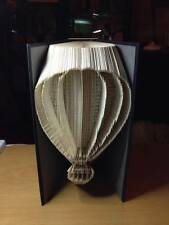 Hot Air Balloon.  Folded Book Art Folding PATTERN ONLY #2623