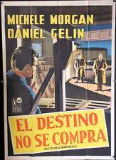 153 THERE'S ALWAYS A PRICE TAG Italian one-panel movie poster '57
