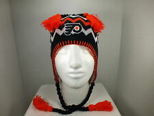 Philadelphia Flyer NHL Vintage Knit Beanie winter hat with tassels New by Zephyr
