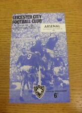 30/10/1965 Leicester City v Arsenal  (Small Piece Missing Inside).  We are pleas