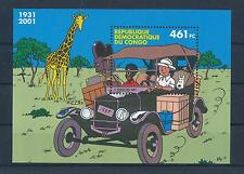 [50338] Rep. Dem. Congo 2001 Tintin Joint issue with Belgium MNH