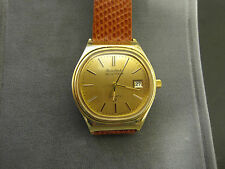 #255 mans gold plated  1977 model bulova accutron date  watch