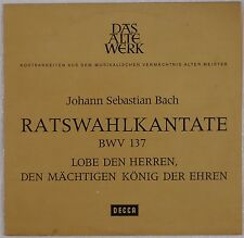 "BACH: Ratswahlkantate LOBE DEN HERREN DECCA 10""AWD 8907-E Germany NEAR MINT LP"