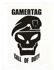 PERSONALISED CALL OF DUTY DECAL & GAMERTAG CAR/BIKE STICKER  90 x 142MM