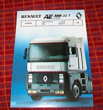 RENAULT AE 380.22T L.S.W. TRACTOR UNIT 6x4 SPECIFICATION EUROPE JUNE 1990