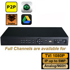 Tribrid 1080P HD-TVI DVR 16CH support analog/1080P TVI/1080P IP camera up to 5MP