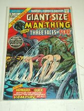 MAN-THING GIANT SIZE #5 VG (4.0) MARVEL COMICS HOWARD THE DUCK AUGUST 1975+