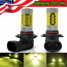 2x 9005 HB3 LED Fog Light 60W Samsung 2323 4300K Yellow Driving DRL Bulbs US