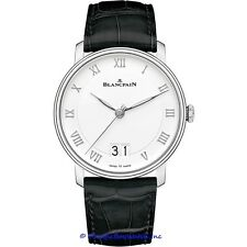 NEW Blancpain Villeret Grande Date $11,660.00 gent's Automatic 40mm watch.