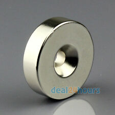 1 Big Round Ring Magnet 35mm x 10mm Hole 6mm Disc Rare Earth Neodymium N50 Grade