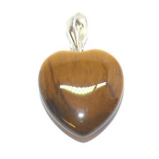 Golden Tigers Eye Heart Tumbled Crystal Pendant Gift for Protection & Success