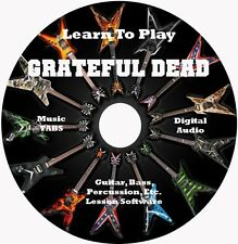 Grateful Dead Guitar TABS Lesson CD for Windows,Mac,Linux 152 Songs!