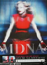 "MADONNA ""MDNA"" PROMO POSTER FROM THAILAND (Printed in English & Thai Writing)"