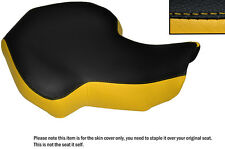 BLACK & YELLOW CUSTOM FITS KAZUMA 100 ATV QUAD LEATHER SEAT COVER