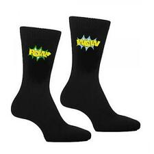 Pow Wow Cartoon Call Out Novelty SOCKS Bright Christmas Birthday Present Gift
