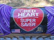 Red Heart Super Saver Variegated PURPLE TONES 5 oz 100% Acrylic Worsted #4 SDL