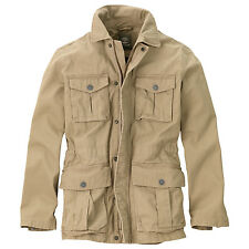 NWT 4802J MEN TIMBERLAND ABINGTON KHAKI RUGGED MILITARY JACKET SZ S $168