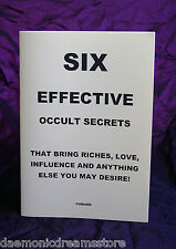 SIX EFFECTIVE OCCULT SECRETS  - Finbarr, Magic. Occult Grimoire. Magick. 6