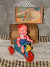 YONEZAWA VINTAGE CLOCKWORK CIRCUS TRICYCLE MADE IN OCCUPIED JAPAN! FULLY WORKING