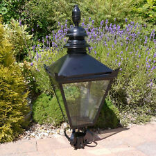 Tradition Steel BLACK Victorian Lantern Top Garden Lighting Street Lamp Outdoor