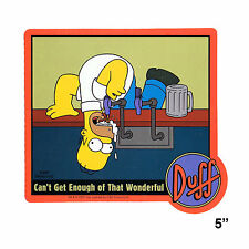 STICKER - The Simpsons Duff Cant Get Enough Of That Beer Homer Vinyl Decal  SB12