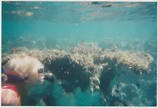 Found PHOTO Young Woman Snorkeler Swimming Underwater