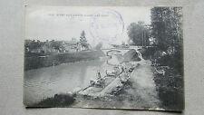 CPA 45 Loiret. Vitry-aux-Loges. Le lavoir. Belle animation. Lavandières. 1918.