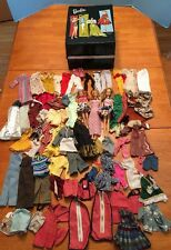 Vtg Barbie LOT 70s 80s Dolls Clothes Ken Skipper Ponytail Storage Case