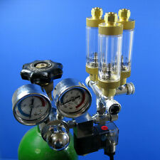 Tri-Regulator CO2 System -Aquarium Solenoid Regulator 3 way Planted Fish Tank