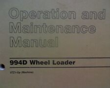 Caterpillar 994D Wheel Loader, operation and maintenance manual book 994 D