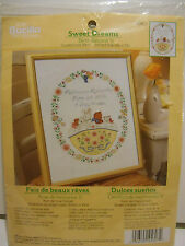 Bucilla Sweet Dreams Birth Record Counted Cross Stitch Kit #45607 NEW!