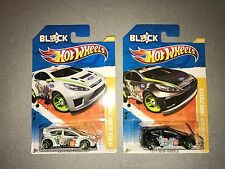 HOT WHEELS 2011 KEN BLOCK FORD FIESTA ~Lot Of 2 ~White and Black version