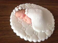 Fatto a mano a pelo bambina fiore CAKE TOPPER DECORAZIONE COMUNIONE BATTESIMO