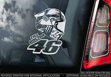 Valentino Rossi #46 - Moto GP Car Window Sticker - MotoGP Helmet Design - TYP2