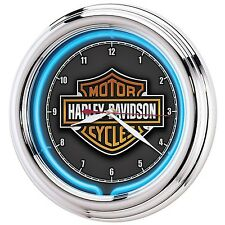 Harley-Davidson Essential Bar & Shield Neon Clock Harley-Davidson