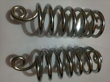 """6"""" Chrome LARGE LYCETTE SEAT / SADDLE SPRINGS -2 mounting springs"""