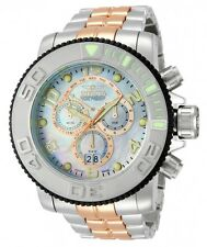 Invicta Mens 58mm Sea Hunter Swiss Made Chronograph MOP Dial Two Tone Watch