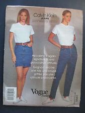 Vogue Designer Pattern 2850 by Calvin Klein - Jeans & Skirt Szs 10 -12-14 New