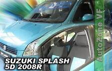 DSU28635 SUZUKI SPLASH 5DOOR 2008-up WIND DEFLECTORS  4pc HEKO TINTED