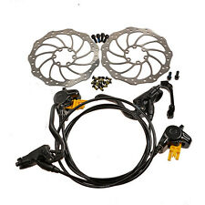 2016 MAGURA MT2 Hydraulic Brake Set Front & Rear Black with Storm 160mm Rotors
