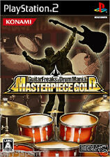 Used PS2 Guitar Freaks & DrumMania Masterpiece Gold