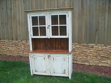 Amish made reclaimed barn wood hutch china cabinet custom built