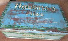 HADENSA PILES MEDICAL OINTMENT TIN SIGN BOX  Pharma COLLECTIBLE Early trademark