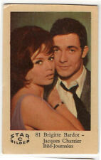 1960s Swedish Film Star Card Star Bilder C #81 Brigitte Bardot &Jacques Charrier