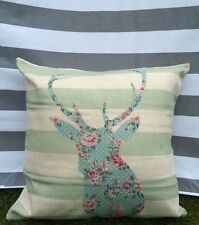Deer Cushion Cover. Reindeer, Christmas, Farmhouse, Striped, Floral, Kidston