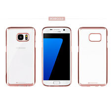 Goospery Metallic Bumper Clear Case silicone gel Cover for iPhone Galaxy LG