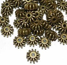 MB925L2 Antiqued Bronze Corrugated Rondelle 12x6mm Alloy Metal Beads 20/pkg