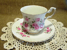 Royal Dover Tea Cup and Saucer Pink Roses