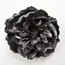 GLITTER/SEQUIN PEONY ARTIFICIAL FLOWER HAIR CLIP/PIN BROOCH